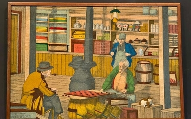General Store Interior Drawing