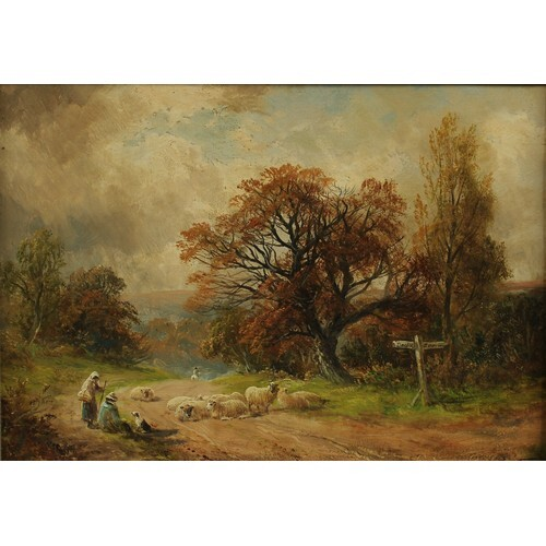George Turner (1841-1910) Resting On The Road signed, signed...