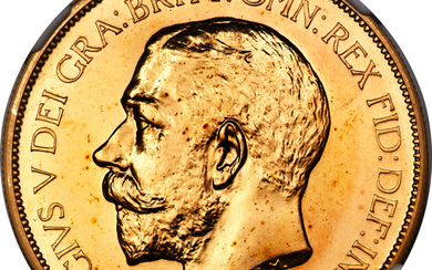 Great Britain: , George V gold Proof 5 Pounds 1911 PR66 NGC,...