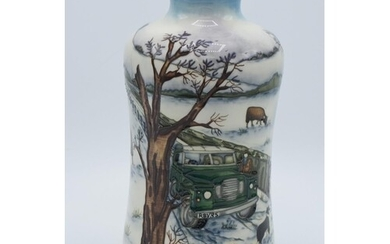 Moorcroft Winter's Feed vase, 2009, limited edition with box...