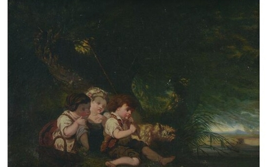 Painting, 19th Century Continental School, Children and