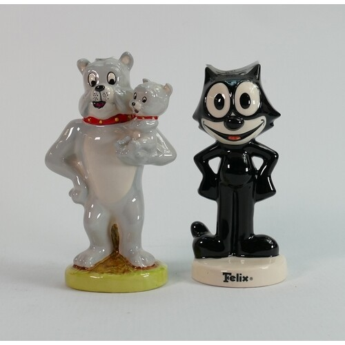 Royal Doulton cartoon figures: felix the cat and Spike and T...