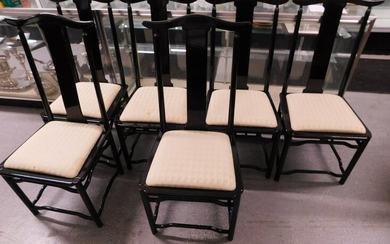 Set of 6 Chinese Style Dining Room Chairs