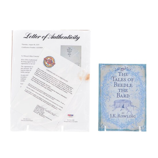 """Signed First Edition """"The Tales of Beedle the Bard"""" by J. K. Rowling with COA"""