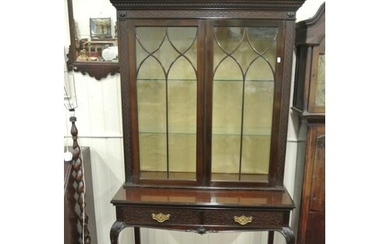 Victorian mahogany Chinese Chippendale style display cabinet...