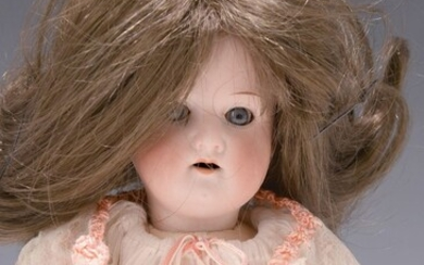 doll with porcelain head, Heubach-Köppelsdorf,around 1910-15, open mouth,...