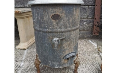 1950s planter in the form of a boiler {71 cm H x 50 cm Dia.}...
