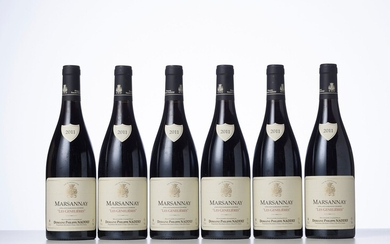 6 Bouteilles MARSANNAY LES GENELIERES Rouge Année : 2011 Appellation : Domaine Philippe Naddef