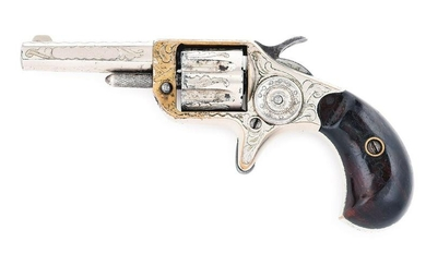 (A) CASED AND ENGRAVED COLT NEW LINE .22 RF SINGLE