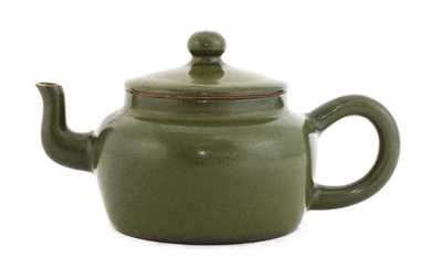 A Chinese teadust-glazed teapot and cover