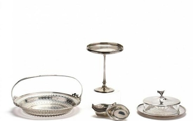 A Collection of Antique & Vintage Sterling Silver Table