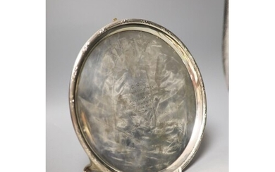 A George V silver salver, with engraved inscription, London,...
