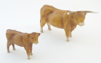 A John Beswick model of a Highland cow, together with a