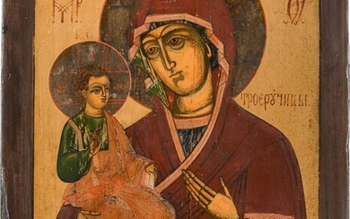A LARGE ICON SHOWING THE THREE HANDED MOTHER OF GOD...