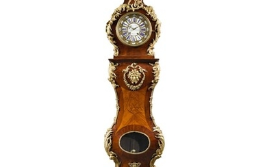 A Louis XV-Style Gilt-Bronze-Mounted Tulipwood, Amaranth and Marquetry Tall-Case Clock, 19th Century