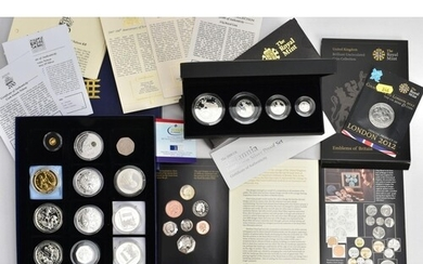 A SMALL GROUP OF MAINLY SILVER PROOF COINAGE To Include: a B...