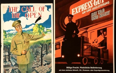 BRITISH WWI RECRUITMENT POSTERS, GERMAN RR POSTER