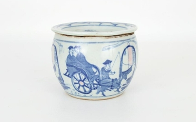 Chinese Blue and White Potpourri Bowl, Marked