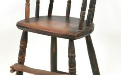 Early 19th Century painted child's chair with a yoke