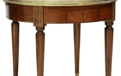 FRENCH LOUIS XVI STYLE MAHOGANY BOUILLOTTE TABLE