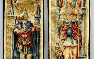 French Needlepoint Tapestry Panels