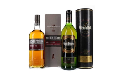 GLENFIDDICH SPECIAL RESERVE AGED 12 YEARS AND AUCHENTOSHAN 12 YEARS OLD