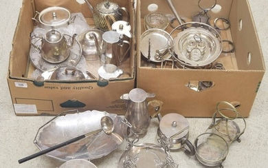 Good selection of silver plated table wares to include Hukin...