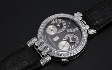 HARRY WINSTON & F.P. JOURNE, A UNIQUE PLATINUM DUAL TIME CHRONOMETER WRISTWATCH, OPUS ONE, REF. 200/MRPFJ 38P