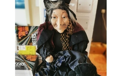 Large Vintage Witch Puppet