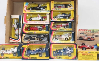 Lot details One tray of 13 mainly Corgi racing...
