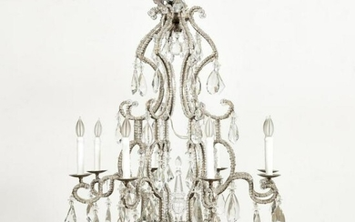 MAISON BAGUES-STYLE 8-LIGHT CRYSTAL CHANDELIER