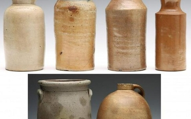 MIDWESTERN AND OTHER STONEWARE CROCK, JUG AND BOTTLES