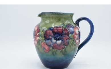 Moorcroft 1950s jug in the Anemone pattern. In good conditio...