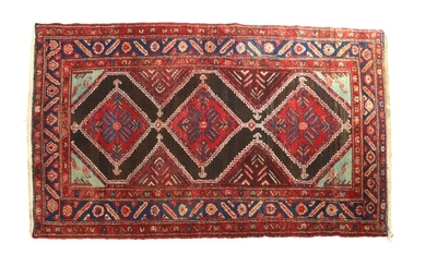 (-), Oriental hand-knotted carpet 230x123 cm