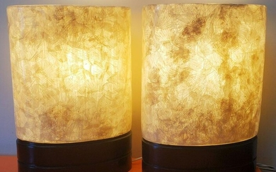 Pair of 80's Fiber Glass Table lamps Small