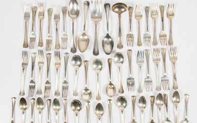 Partial Gorham Sterling Silver Flatware Service in the Old French Pattern