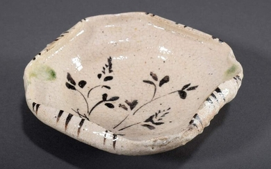 "Small porcelain bowl for the tea ceremony ""Oribe-yaki"" in octagonal..."