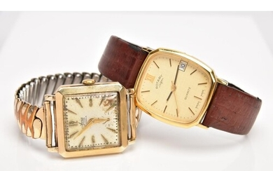 TWO GENTS WRISTWATCHES, the first a 9ct gold 'Avia' wristwat...