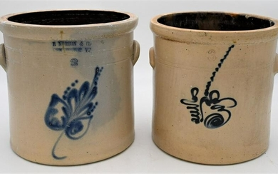 Two Piece Stoneware Lot, to include an E. Norton and