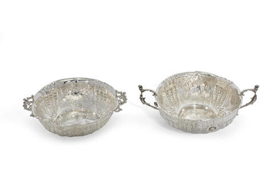 Two Victorian silver bowls