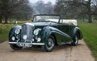 1952 Bentley MKVI 4.5 Litre Drophead Coupe 1 of just 57 cars bodied by Park Ward to their Design Number 99