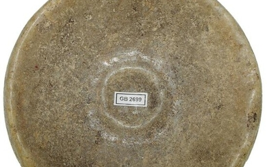 """4 5/16"""" Double Cup Quartz Discoidal. Southern OH."""