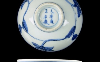 A Chinese Ming style 'palace' bowl - Blue and white - Porcelain - Yongzheng Mark and Period - China - Yongzheng (1723-1735)
