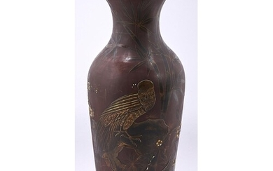 A Continental japanned terracotta vase, late 19th c, d...
