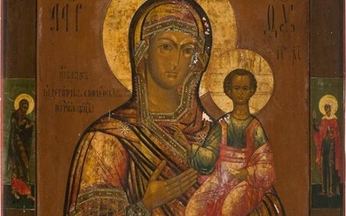 A LARGE ICON SHOWING THE SMOLENSKAYA MOTHER OF GOD