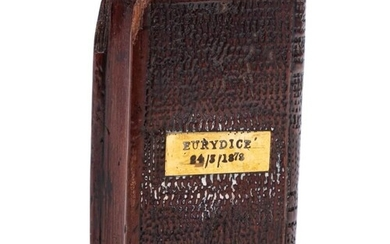 A Victorian treen memorial in the form of a psalm book from ...