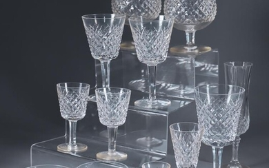 A Waterford Cut Glass 'Alana' Pattern Part Table Service,...