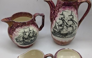 A collection of Gray s Pottery, pattern A7967 splashed