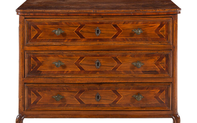 An Italian Baroque Walnut and Parquetry Commode