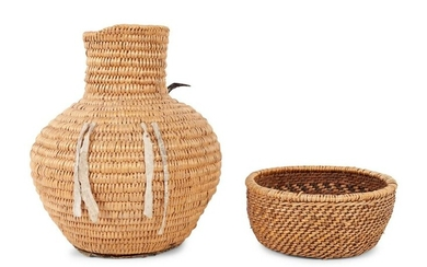 Apache Canteen and Walapai Basketry Bowl